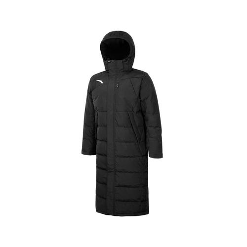 ANTA安踏长款过膝连帽羽绒服大衣保暖外套45742971