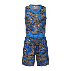 迷彩篮球服套装训练背心比赛服VT6320