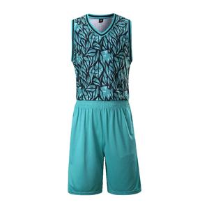 专业比赛迷彩篮球服套装定制 VT808