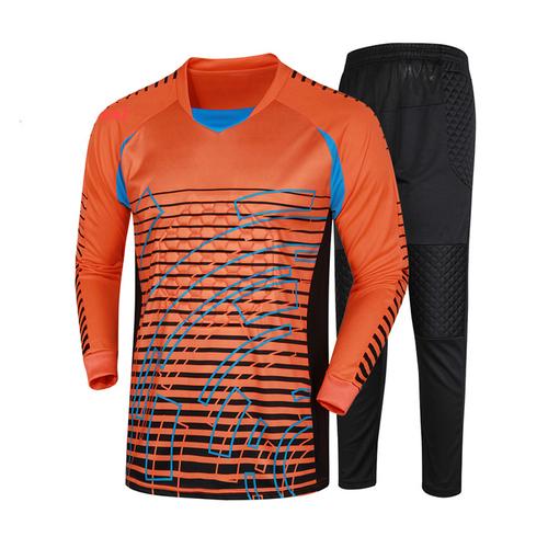 男款守门员球服足球门将服龙门服长袖长裤海绵护心护肘024