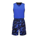 迷彩撞色篮球服套装男光板定制 VT1860