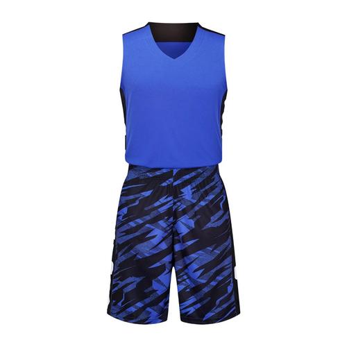 迷彩撞色篮球服套装男 VT1860