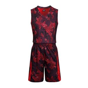 蟒纹篮球服套装光板定制球衣 VT627