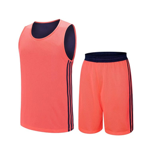 光板空白双面篮球服套装团购定制球衣VT53110