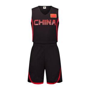 中国队篮球服套装光板运动背心训练比赛服VT6321
