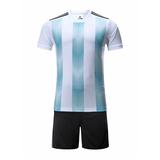 2018世界杯阿根廷主场空白足球服套装