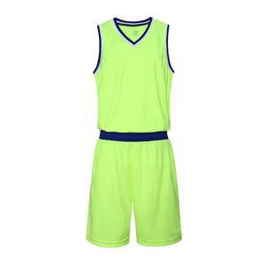 女款V领空白篮球服套装运动服VT6551