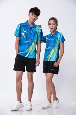 速干透气撞色乒乓球服羽毛球服男女同款268-B268