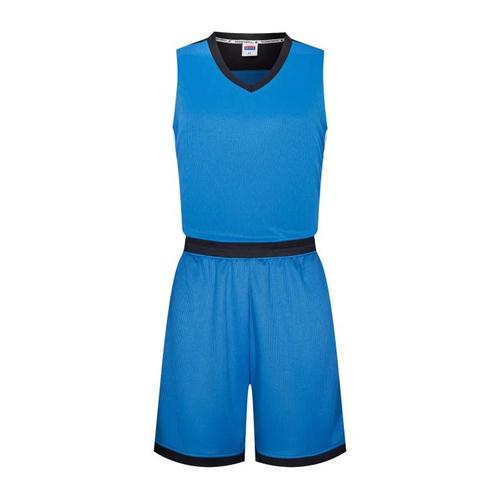 接拼撞色篮球服套装光板运动背心球衣VT6309