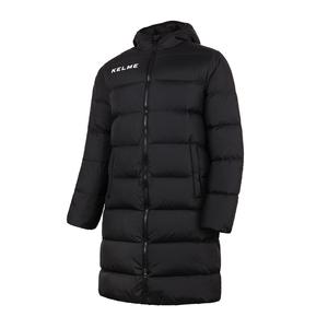 KELME卡尔美冬季羽绒服男长款保暖连帽外套K15P001-1