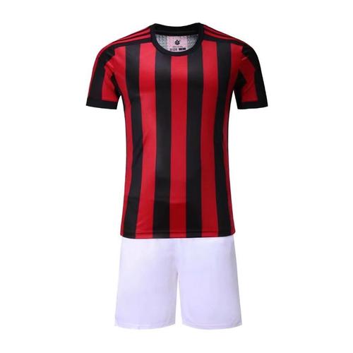 17-18赛季AC米兰主场空白足球服套装