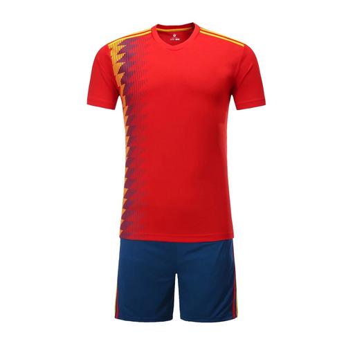 2018世界杯西班牙主场空白足球服套装