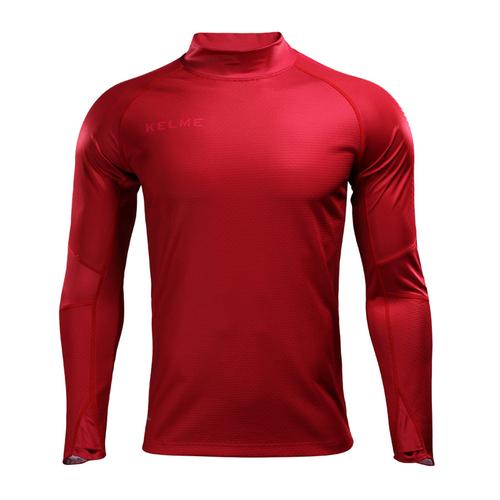KELME卡尔美鲨鱼皮外套拇指扣训练服圆领套头衫男3871501