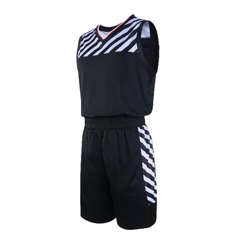 专业比赛篮球服套装男光板定制 VT626
