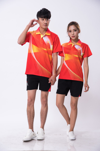 快干透气情侣款乒乓球服羽毛球服男女同款1727-1728