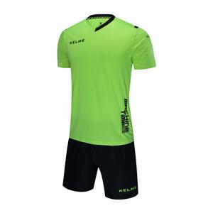 KELME卡尔美男款短袖足球服套装比赛训练定制印号3881019