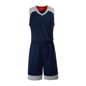 NBA全明星光板篮球服套装个性领口球衣运动背心VT7304