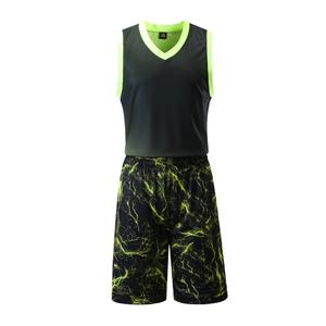 专业比赛闪电光板运动篮球服套装男 VT805