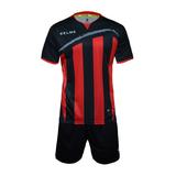 KELME卡尔美足球男短袖套装训练服竖条纹球衣K15Z245